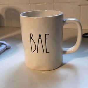 "Rae Dunn mug ""BAE"""
